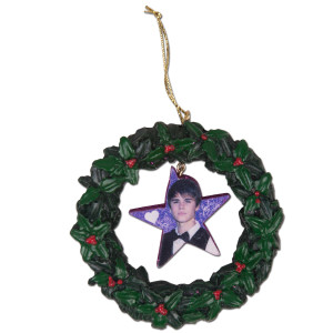 Justin Bieber Wreath Ornament