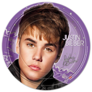 "Justin Bieber 2 9"" Plate"