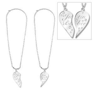 Justin Bieber Magnetic Split Heart Necklace