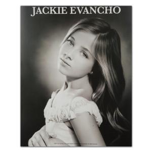 Jackie Evancho 8X10 B/W Silver Screen Photo