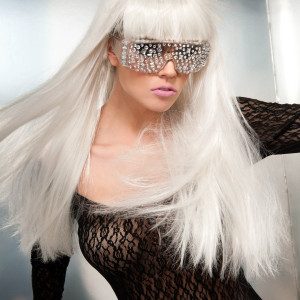 Lady Gaga Jeweled Glasses