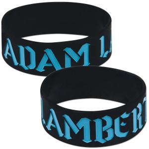 Adam Lambert Stencil Logo Wristband