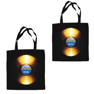 Golden Record Canvas Tote Bag