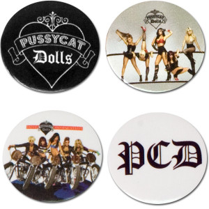 Pussycat Dolls Button Set