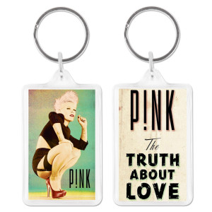 Pink Truth About Love Acrylic Keychain