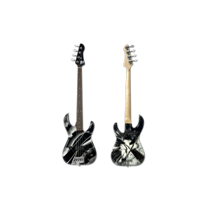 Black and White Spin Bass Guitar - Damien Hirst and Flea