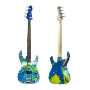 Colour Spin Bass Guitar - Damien Hirst and Flea