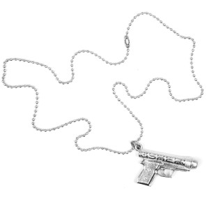 Usher Gun Microphone Necklace