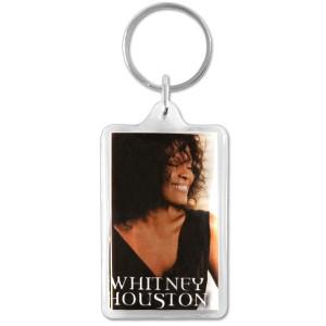 Whitney Houston Photo Keychain