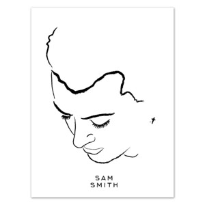 Sam Smith Portrait Litho