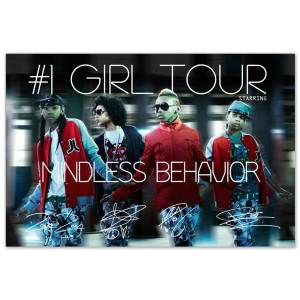 Mindless Behavior #1 Girl Tour Admat Poster