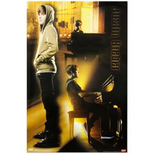 Justin Bieber Piano Poster