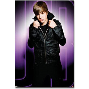 Justin Bieber Giant Purple Mural