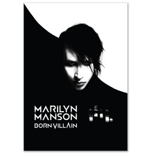 Marilyn Manson Born Villain Black and White Poster