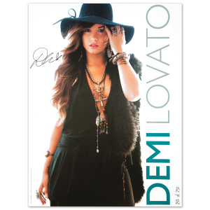 Demi Lovato Song List on Demi Lovato Autographed Hat Glow Lithograph   Shop Ticketmaster