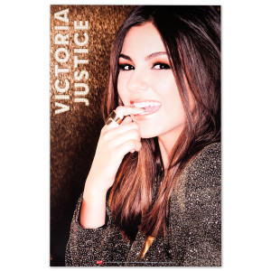 Victoria Justice Gold Poster 12X18""