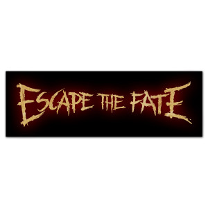 Escape the Fate Glow Logo Sticker