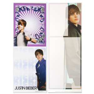 "Justin Bieber 4x12"" Decal Sticker Pack"