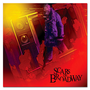 Scars on Broadway Cover Sticker