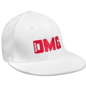 Usher OMG White Flat Brim Hat