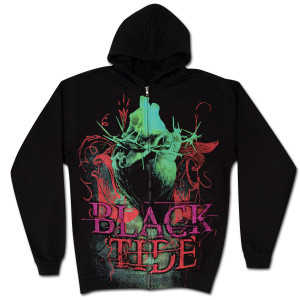Black Tide Heart and Thorns Zip Hoodie