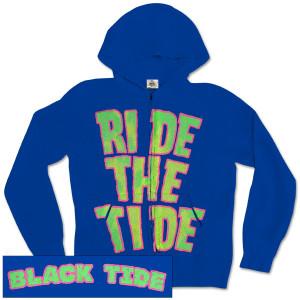 Black Tide Rip Tide Royal Blue Zip Hoodie