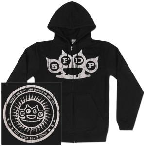 Five Finger Death Punch Knuckle Skull Zip Hoodie