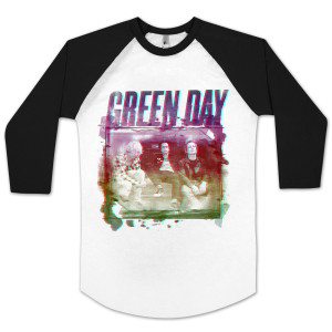 Green Day Old School Raglan Shirt