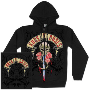 Guns N' Roses Dripping Dagger Zip Hoodie