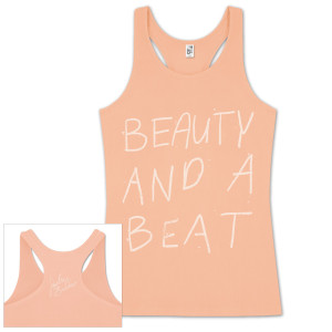 Justin Bieber Beauty and A Beat Sketch Juniors Tank
