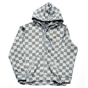 Trukfit Checker Full Zip Hoodie – Gunmetal Heather
