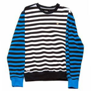 Trukfit Stripe Pattern Crew Sweatshirt