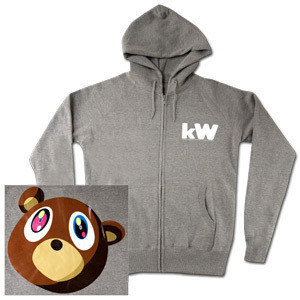 Kanye West Album Bear Zip Hoodie