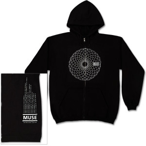 Muse Hex Hole Dateback Black Zip Hoodie