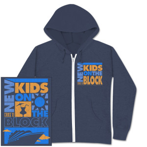 New Kids on the Block Ocean Block Zip Hoodie
