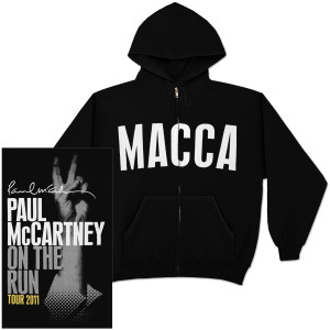 Paul McCartney On The Run Full-Zip Hoodie