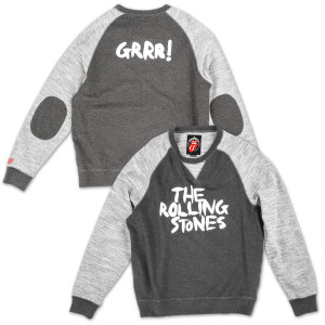 GRRR! Elbow-Patch Crew Neck Sweatshirt