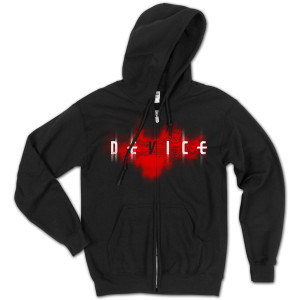 Device Red Circuit Zip Hoodie
