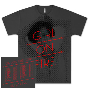 Alicia Keys Girl On Fire Tour T-Shirt