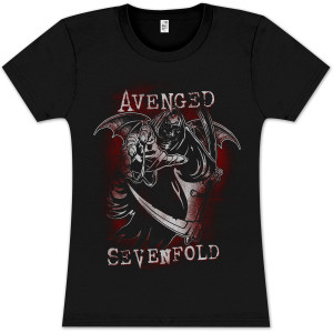 Avenged Sevenfold Reaper Reach Girlie T- Shirt