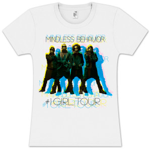 Mindless Behavior Shadow Group Girlie T-Shirt
