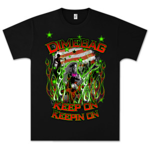 Dimebag Darrell Flag and Stars T-Shirt