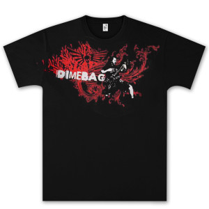 Dimebag Darrell Flourish Flames T- Shirt