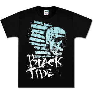 Black Tide Striped Skull T-Shirt