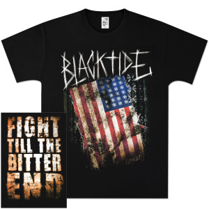 Black Tide Flag Scratch T-Shirt