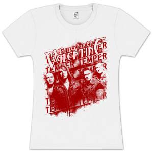 Bullet For My Valentine Band Photo Stencil Jr T-Shirt