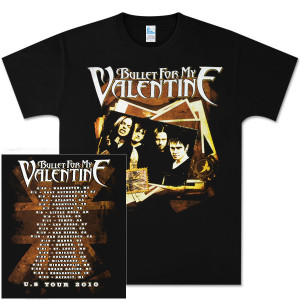 Bullet For My Valentine Photo Stack Tour T-Shirt