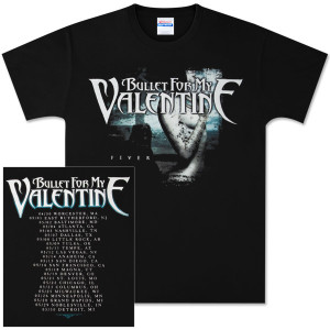 Bullet For My Valentine Fever Cover Dateback Tour T-Shirt