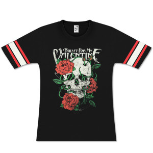Bullet For My Valentine Skull Roses Ladies Hockey Shirt