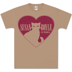 Susan Boyle Cat Heart T-Shirt